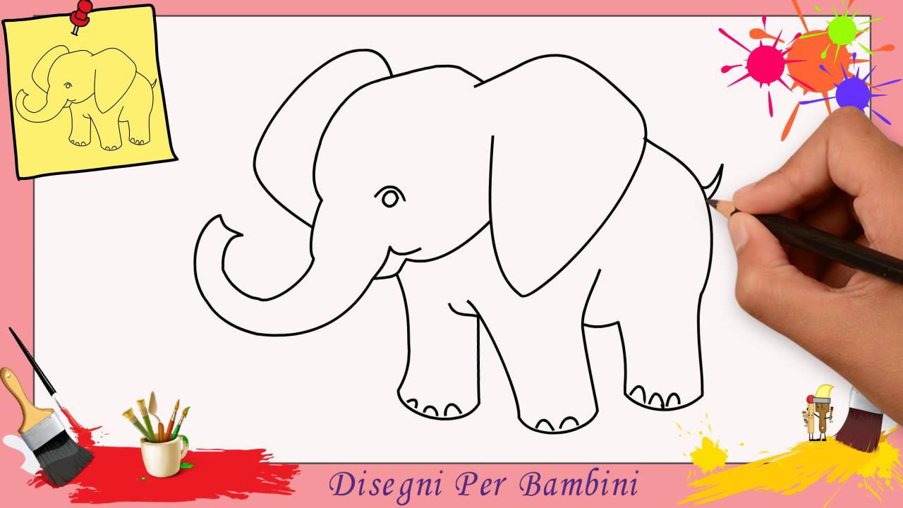 Disegni Di Elefante Come Disegnare Un Elefante Facile Passo Per Passo Per Bambini