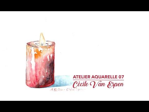 Atelier Aquarelle 07 : Bougie