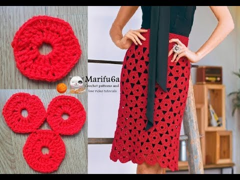 How To Crochet Easy Motifs Skirt For Beginners Free Tutorial Pattern All Sizes