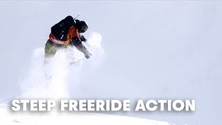 The STEEPEST Freeride World Tour 2018 action.