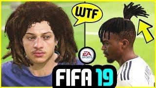 FIFA 19 CRAZY Hairstyles FT. Neymar, Fellaini & More