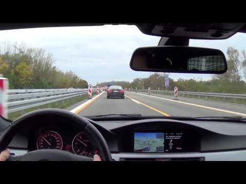 Chasing A5 Sportback with BMW 330d LCI on German Autobahn