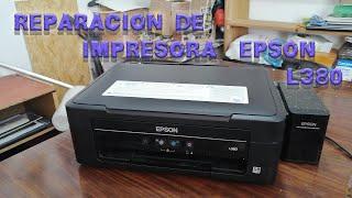 REPARACION DE IMPRESORA EPSON L380 CON PROBLEMAS DE  CAPACITORES DAÑADOS VIDEO con blooper al FINAL