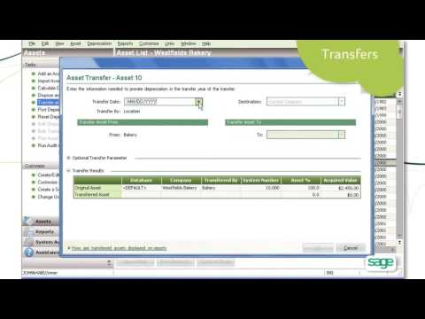 Sage Fixed Assets – Depreciation