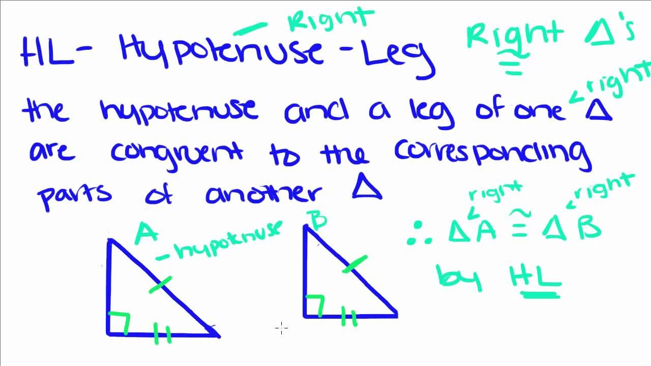 Introduction to Geometry - 17 - Congruent Triangles HL