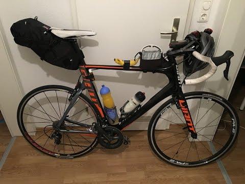 Rennrad Transalp München - Reschen - Meran Bikepacking