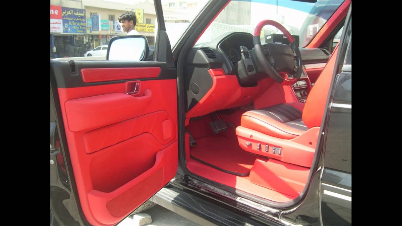 Black Range Rover Sport Red Interior