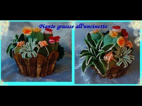 piante grasse all 39 uncinetto crochet succulents youtube