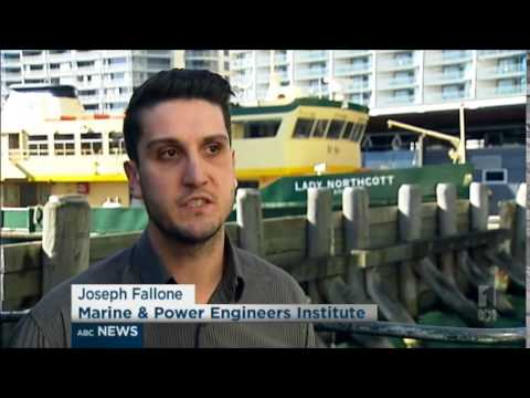 ABC News NSW - Sydney Ferries Industrial Action Strike (3/7/2014)