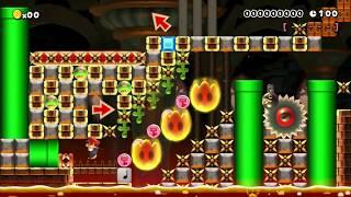 【マリオメーカー】◇三段ジャンプで城中を駆け抜けろ!SPEEDRUN♪【100s】【Super Mario Maker】
