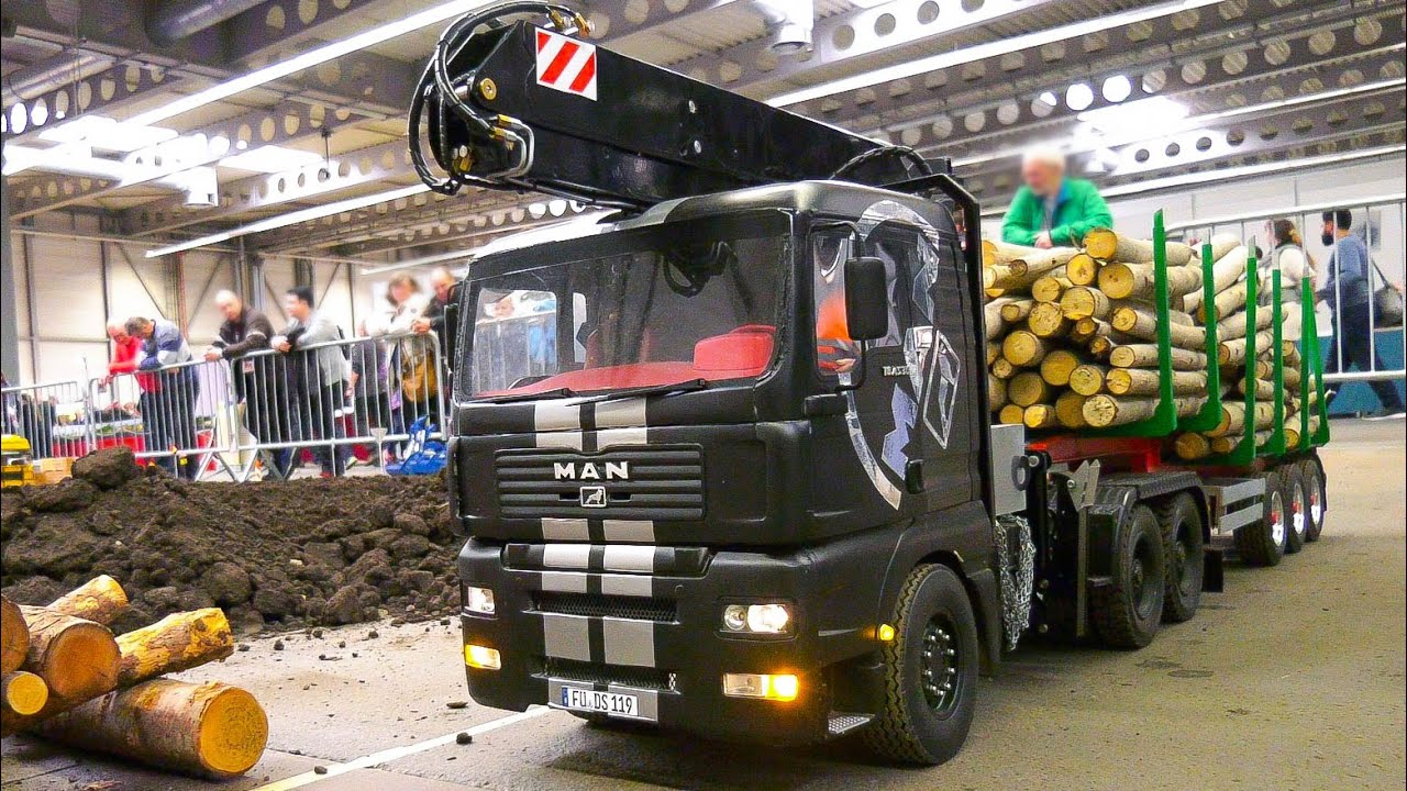 FANTASTIC RC MODEL TRUCKS, RC MACHINES, RC VEHICLES IN SCALE 1:14 and 1:8!! RC MAN, RC VOLVO