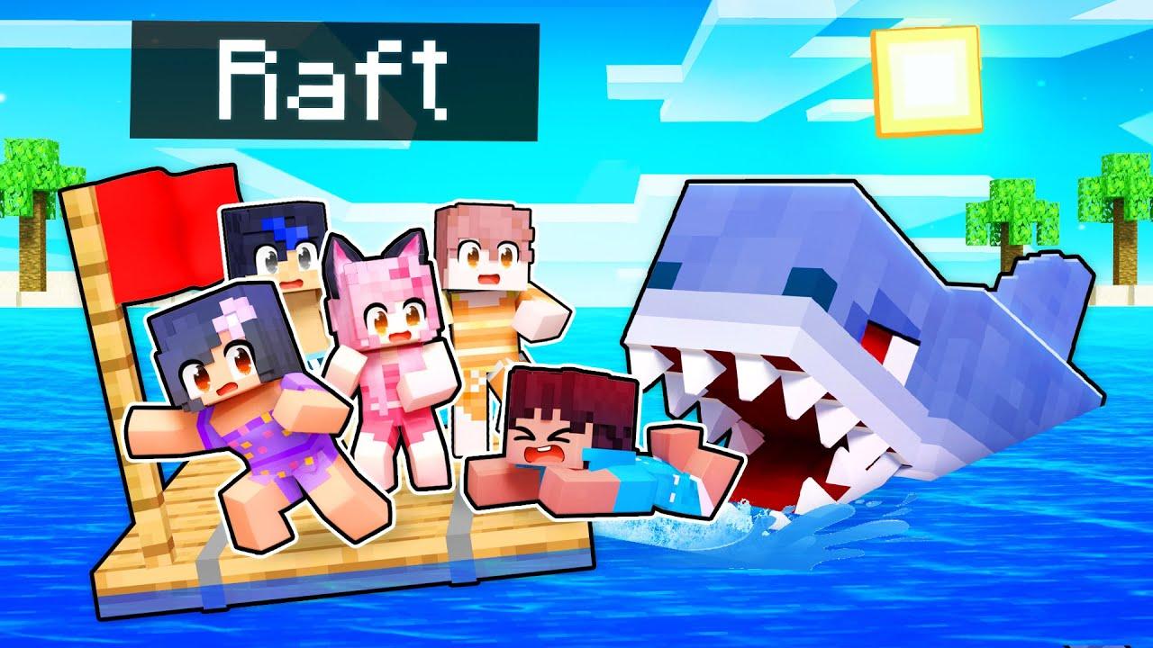 Download 5 KIDS On A RAFT In Minecraft!
