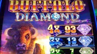 ★NEW ! BUFFALO DIAMOND☆$250 Free Play Live/ Buffalo Diamond Slot (Aristocrat) @San Manuel Casino☆栗スロ