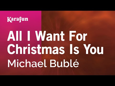 Karaoke All I Want For Christmas Is You - Michael Bublé *
