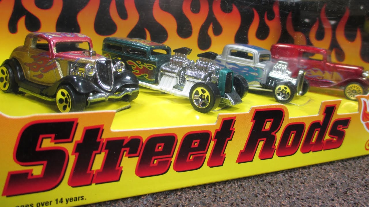Hot Wheels Street Rods Target Exclusive 4 Car Box Set Youtube