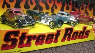 Hot Wheels Street Rods Target Exclusive 4-Car Box Set