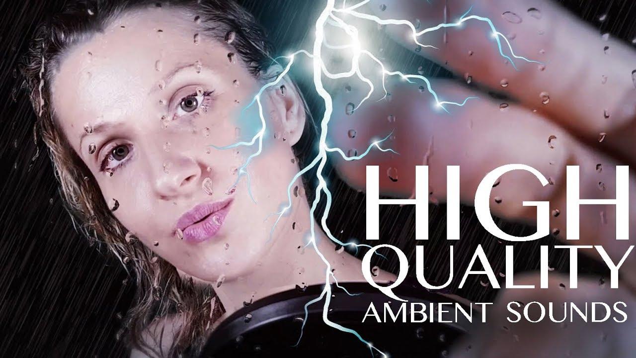 Epic Asmr Rain And Thunder Whispers 1 Hr Sleep Sounds Hand Movements