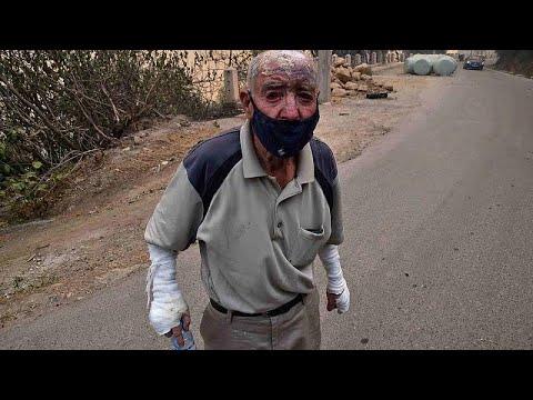 شهادات حية لمواطنين يواجهون لهيب النيران بوسائل تقليدية بمنطقة القبائل في الجزائر…