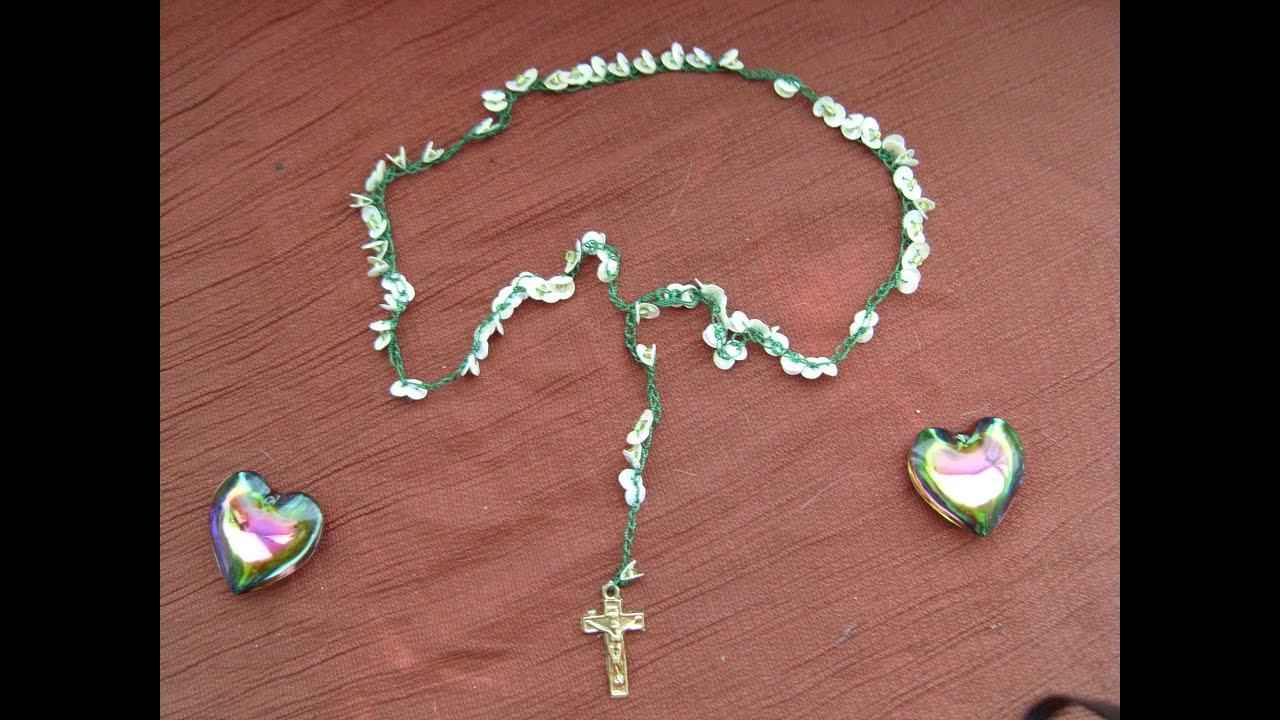 Diy c mo hacer un rosario tejido con lentejuelas precioso - Como se hace manualidades ...