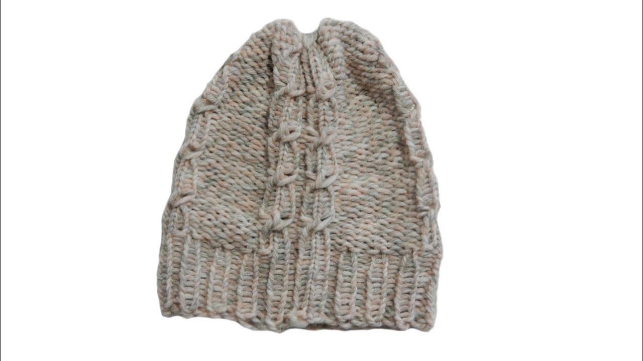 Hervorragend Tricotin - Bonnet à torsades I Loom Knitting - YouTube UZ64