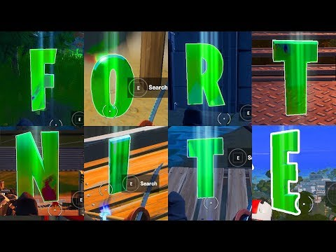 Collect F-O-R-T-N-I-T-E Letters Hidden In Loading Screen - All Fortnite Letters Locations SEASON 11