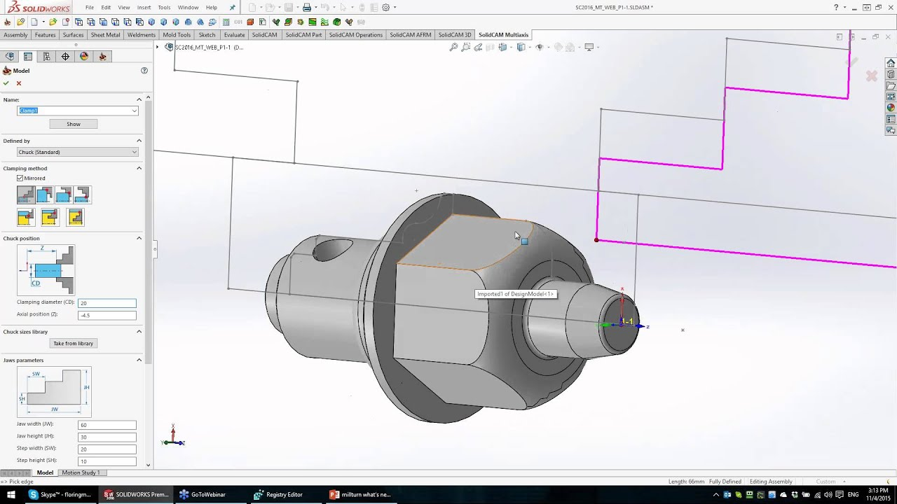 The power of mill-turn in SolidCAM 2016 - part 1