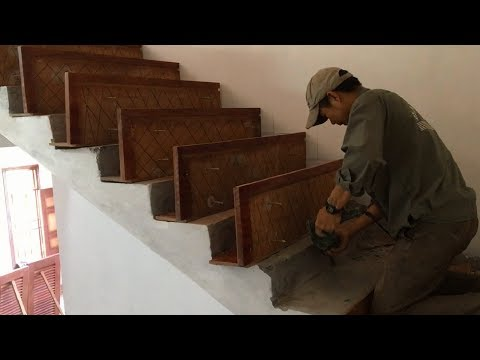 Amazing Techniques Woodworking You Have Never Seen - How To Installation A Wooden Staircase Treads
