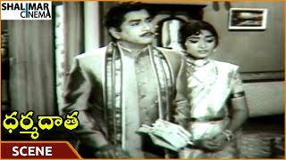 Dharma Daata Movie || ANR Gives Dowry Money To Nagabhushanam || ANR, Kanchana || Shalimarcinema