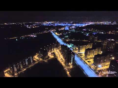 Новая Москва с Воздуха.  Вечерняя Коммунарка 15 апреля 2016 года (расширенная версия)