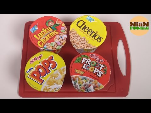 [CEREALES] Lucky Charms, Froot Loops, Pops & Cheerios - Miam Fooding unboxing cereals