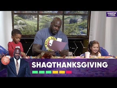 Arts & Crafts With Uncle Shaq | Happy Thanksgiving!