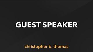 Pastor Christopher B. Thomas | January 3, 2021