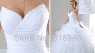 Шикарное свадебное платье в стиле