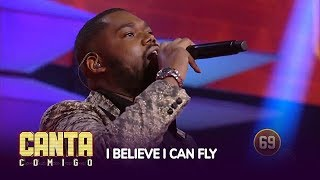 Jhour Bayron surpreende 90 jurados ao som de I Believe I Can Fly