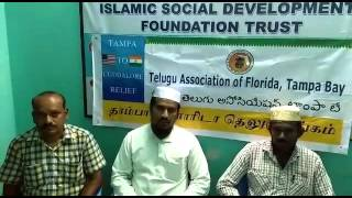 Thank you note from Mangalam Pettai association to Telugu Association of Florida Tampa Bay