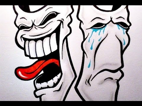 How To Draw Laugh Now Cry Later Theater Masks Youtube