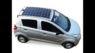 #solar electric car #4 wheel solar panel electric car
