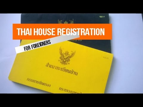 Thai House Registration Book for Foreigners (Yellow Tabien Baan)