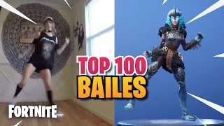 TOP 100 FORTNITE BAILES IN REAL LIFE - THE BEST BAILES AND EMOTES vs REAL LIFE