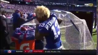 Odell Beckham Jr. Hits Self In Face With Kickers Net.