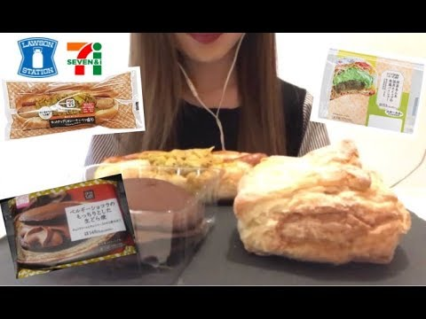[ASMR/咀嚼音/音フェチ] コンビニスイーツ食べる convenience sweets Eating Real Sound no talking