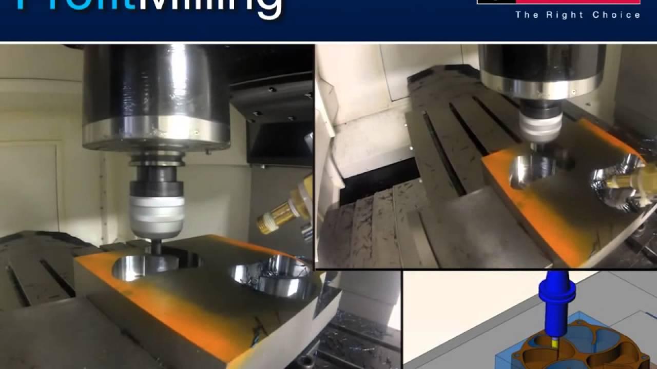 ESPRIT CAM銑床擺線加工 - YouTube