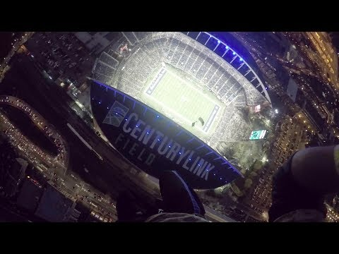 A 360 Degree Look at Parachuting into CenturyLink Field