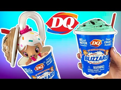 DAIRY QUEEN DOLLS! NEW DQ Lil' Blizzard Friends Doll Video! Mix & Match Dairy Queen Ice Cream Doll!