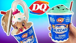 DAIRY QUEEN DOLLS! NEW DQ Lil&#39 Blizzard Friends Doll Video! Mix &amp Match Dairy Queen Ice Cream Doll!