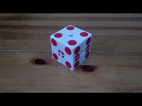 grigorusha Trivial Dice cube 2x2 (Rubik's cube 2x2x2 - Sticker MOD Cube)