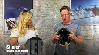 Sinner Stoneham Ski Helmet  & Sinner Crystal Trans Ski Helmet