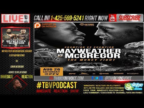 Immediate Reaction: Floyd Mayweather Jr. vs. Conor McGregor Official