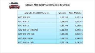 Maruti Alto Road Price Mumbai