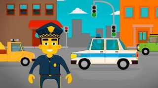 Полицейская машина и скорая помощь в мультике - Машинки и Профессии для детей.